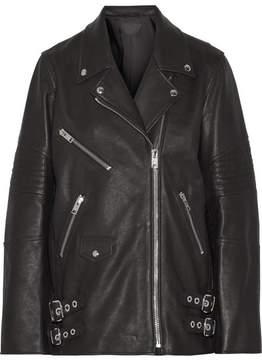 Alexander Wang Oversized Leather Biker Jacket - Black