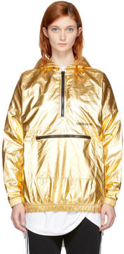 adidas Gold Metallic Nylon Windbreaker