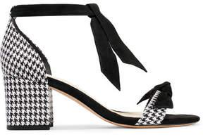 Alexandre Birman Clarita Suede-trimmed Houndstooth Canvas Sandals - Black