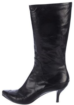 CNC Costume National Pointed-Toe Mid-Calf Boots