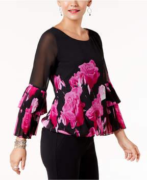 Alfani Tiered-Sleeve Top, Created for Macy's
