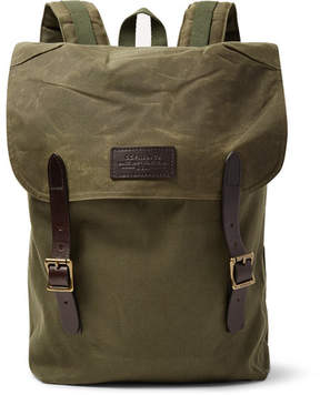 Filson Ranger Leather-Trimmed Twill Backpack
