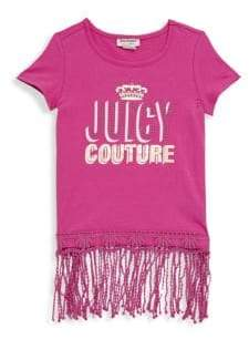 Juicy Couture Little Girl's Logo Fringed-Hem Top
