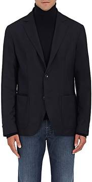 Luciano Barbera Men's Reversible Worsted Wool Two-Button Sportcoat