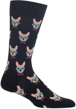 Hot Sox Men's Smart Frenchie Socks
