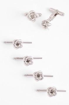 David Donahue Men's Knot Cuff Link & Stud Set