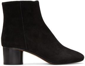 Isabel Marant Black Suede Danay Boots