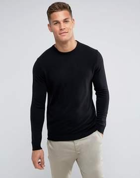 Benetton 100% Merino Sweater In Black