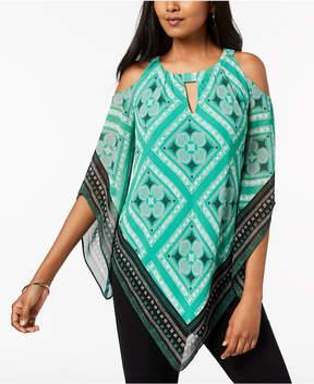 Alfani Cold-Shoulder Asymmetrical-Hem Tunic, Created for Macy's