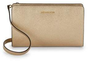 MICHAEL Michael Kors Textured Saffiano Leather Convertible Clutch - CINDER - STYLE