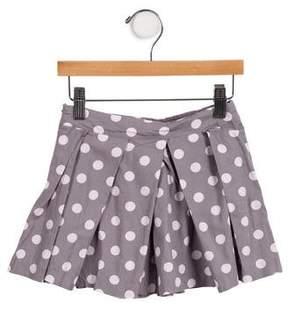 Lili Gaufrette Girls' Pleated Polka Dot Skirt