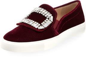 Karl Lagerfeld Paris Ermine Velvet Embellished Sneaker