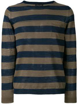 Roberto Collina striped chest pocket top