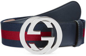 Gucci Web Belt w/Interlocking G