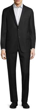 Hickey Freeman Men's Wool Sharkskin Notch Lapel Suit