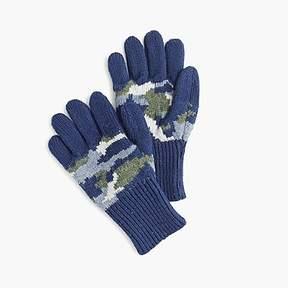 J.Crew Kids' camo gloves