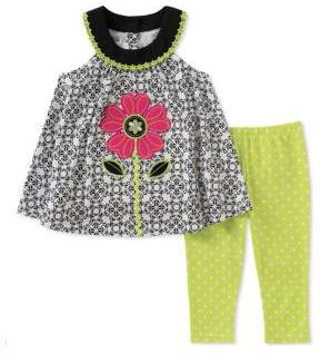 Kids Headquarters Baby Girl's Two-Piece Top and Capri Pants Set