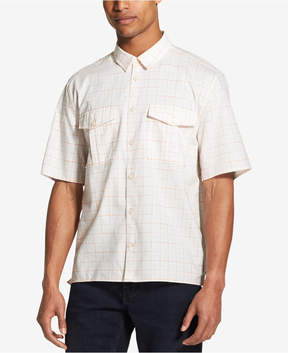 DKNY Men's Woven Windowpane Shirt