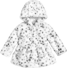 First Impressions Faux-Fur Animal-Print Jacket, Baby Girls (0-24 months), Created for Macy's