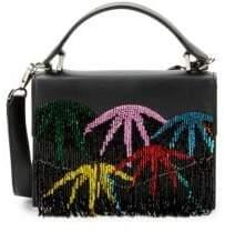 Les Petits Joueurs Lulu Palm Fringe Leather Satchel