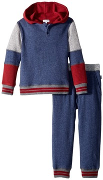 Splendid Littles Mixed Fabric Hoodie Set Girl's Active Sets
