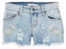 Vintage Havana Girl's Embroidered Denim Shorts
