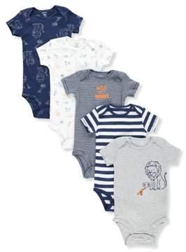 Carter's Baby Boys' 5-Pack Bodysuits - gray multi, newborn