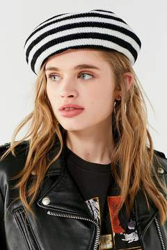 Urban Outfitters Striped Chenille Beret