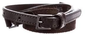 Max Mara 'S Skinny Grosgrain Waist Belt