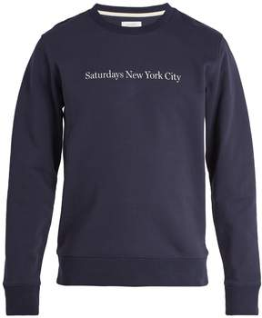 Saturdays NYC Bowery cotton sweatshirt