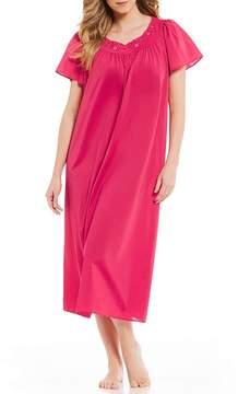 Miss Elaine Plus Short-Sleeve Long Gown