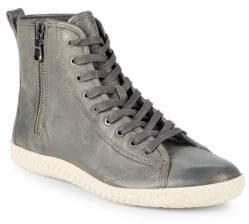 John Varvatos Star Leather High Top Sneakers