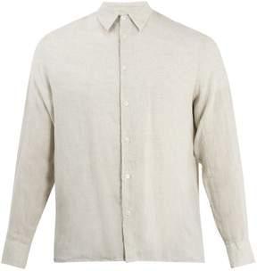 Giorgio Armani Point-collar linen shirt