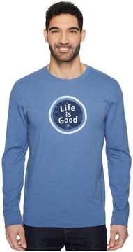 Life is Good LIG Coin Long Sleeve Crusher Tee Men's T Shirt