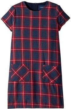 Toobydoo Plaid Shift Dress Girl's Dress