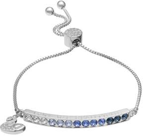 Brilliance+ Brilliance Silver Plated You are Beautiful Bolo Bracelet with Swarovski Crystals