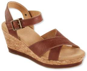 L.L. Bean L.L.Bean Women's Wedge Strap Sandals, Leather