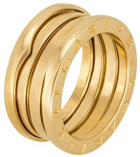 Bvlgari B.zero1 18kt Rose Gold 3-Band Ring Size 6