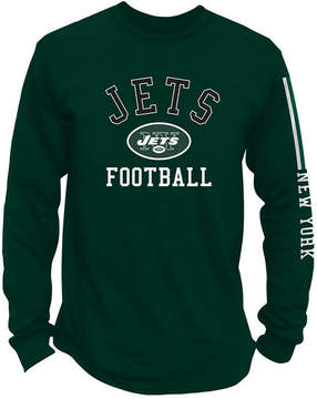 Authentic Nfl Apparel Men's New York Jets Spread Formation Long Sleeve T-Shirt