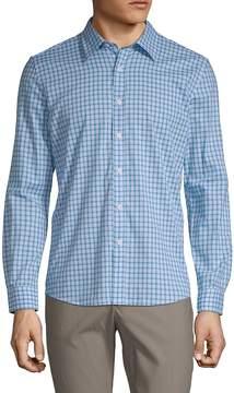 Hyden Yoo Men's Checkered Cotton Button-Down Shirt