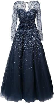 Carolina Herrera embroidered flared maxi dress