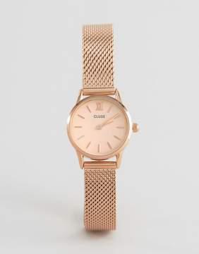 Cluse La Vedette Mesh Rose Gold Watch CL50002
