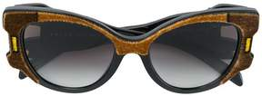 Prada oversized velvet sunglasses