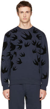 McQ Navy Swallows Sweatshirt