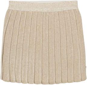 Billieblush Gold Knitted Lurex Pleated Skirt
