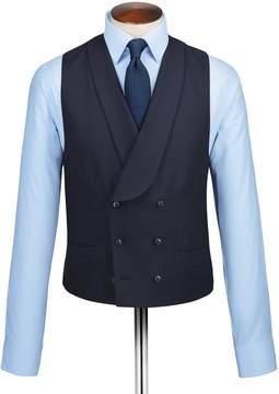 Charles Tyrwhitt Navy Adjustable Fit British Serge Luxury Suit Wool Vest Size w40