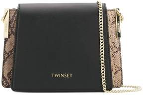 Twin-Set panelled shoulder bag