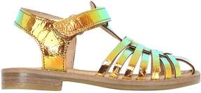 Momino Iridescent Leather Sandals