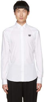 McQ White Harness Swallow Shirt