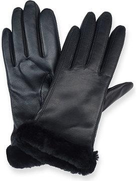 UGG Ladies Black Luxury Lea Smart Leather Gloves